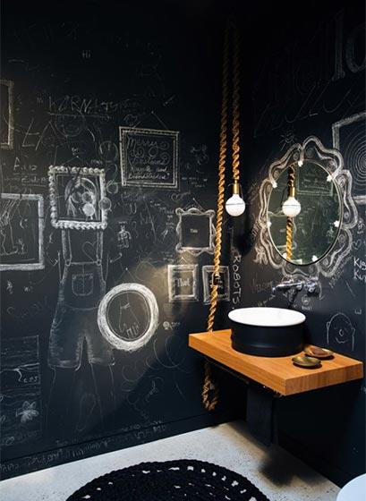复古风浴室设计实景图