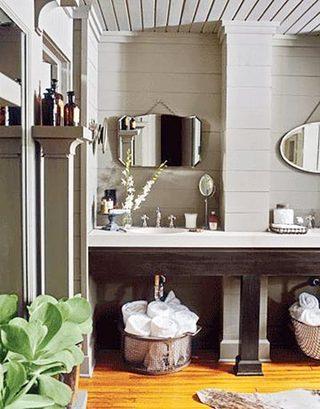 复古风浴室装修装饰效果图