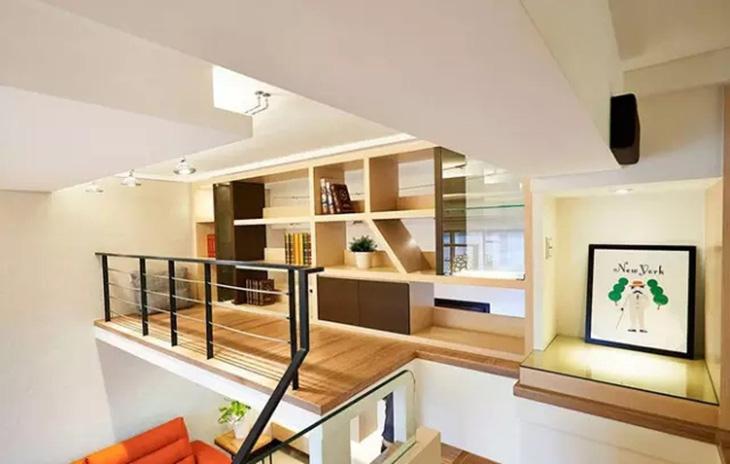 48平loft装修木地板装修