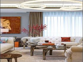 豪华高端现代欧式 160平公寓精装样板房