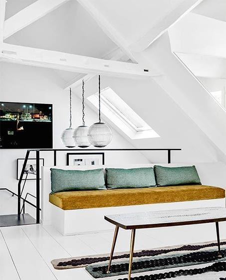 创意阁楼客厅平面图
