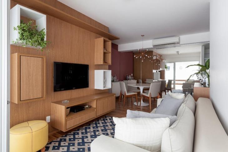 90平三居室装修客厅效果图