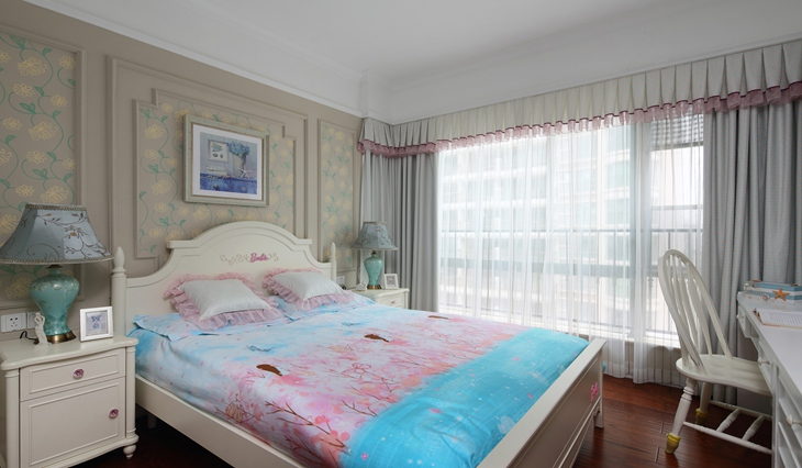优雅美式田园风卧室装修图