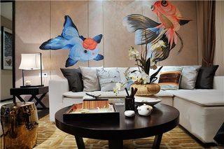 130㎡新中式三居装修装饰效果图