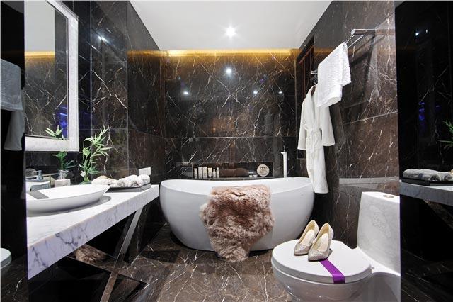 130㎡新中式三居卫生间实景图