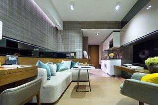 35平一居室客厅效果图
