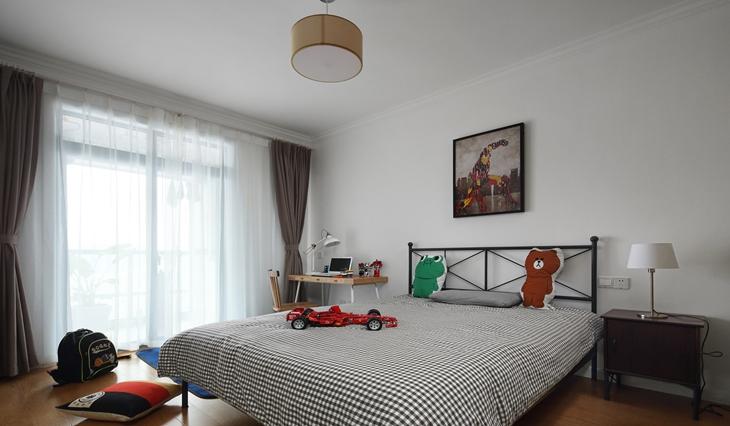 舒适简单北欧风格装修 看似随意实则精致卧室效果图