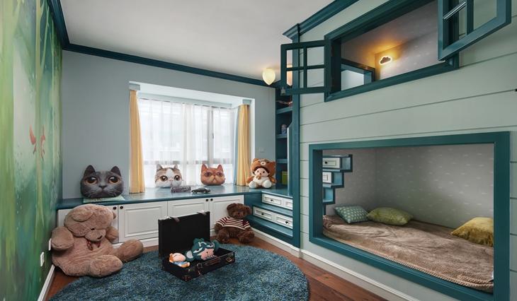 小户型也温馨 超好看美式风格装修儿童房装修