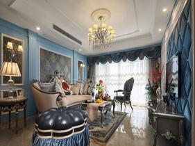 奢华宫廷欧式别墅设计 加入地中海蓝调色彩