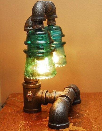 工业风水管灯设计平面图