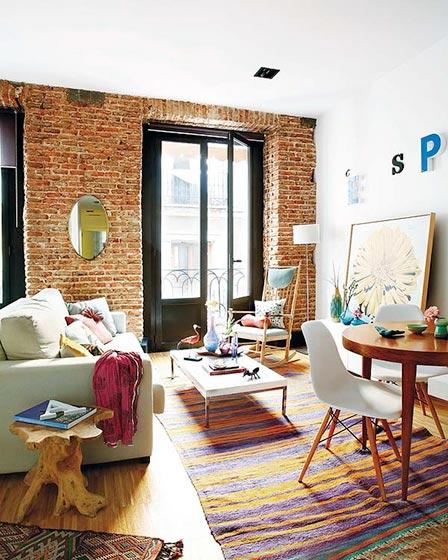 50平米创意一居室客厅效果图