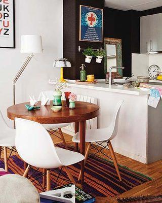 50平米创意一居室餐厅布置图