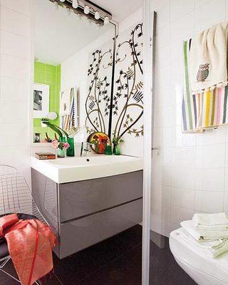 50平米创意一居室卫生间摆放图