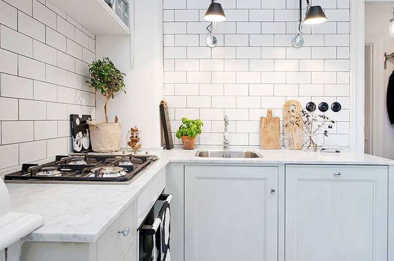 44平单身公寓厨房橱柜图片