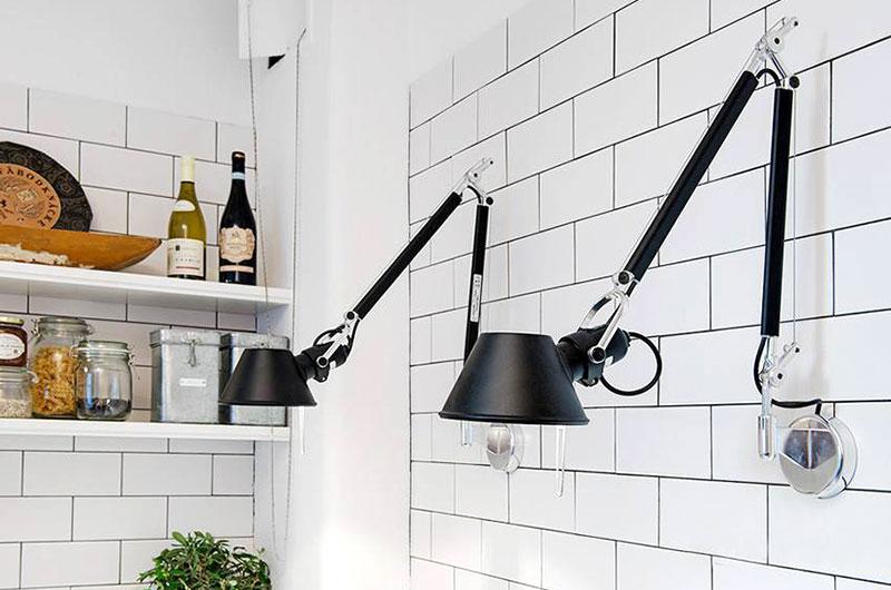 44平单身公寓简约壁灯效果图