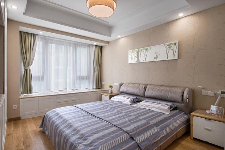 85平宜家小两居装修主卧室设计