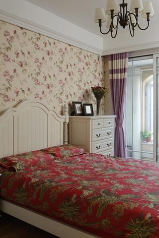 简约欧式风格装修卧室壁纸图片