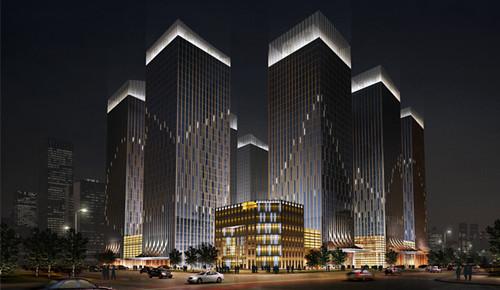 尽量把照明灯具隐藏起来,不破坏景观效果,做到照明设备与建筑融为图片
