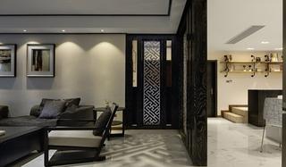 简约风格三居室装修镂空隔断图片
