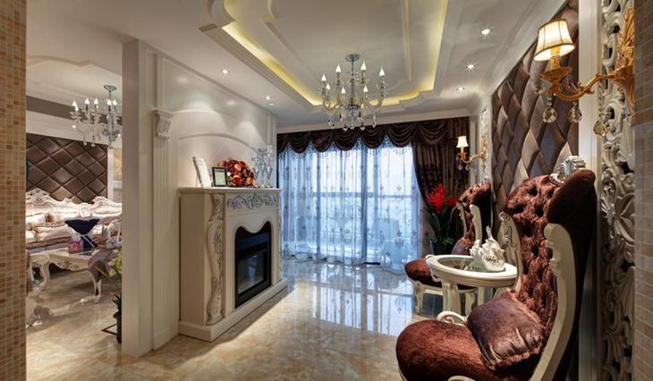 欧式风格三居室装修地板瓷砖装修