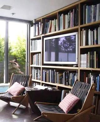 电视背景墙书架设计图