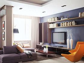 7款收纳型电视背景墙设计图