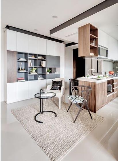 50㎡现代一居室公寓休闲区图