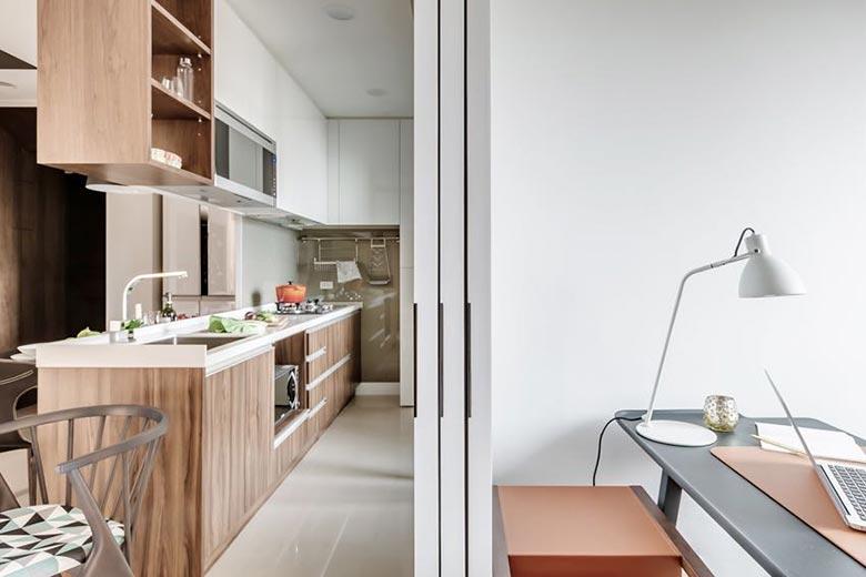 50㎡现代一居室公寓整体装修图