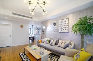 北欧风格两居客厅沙发图片