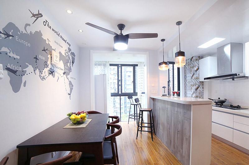 15万半包北欧风格两室两厅装修 家有温度
