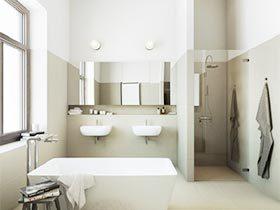 宠爱新生活  10个极简卫生间设计效果图