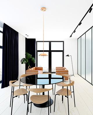 时尚简洁后现代 客餐厅装潢图
