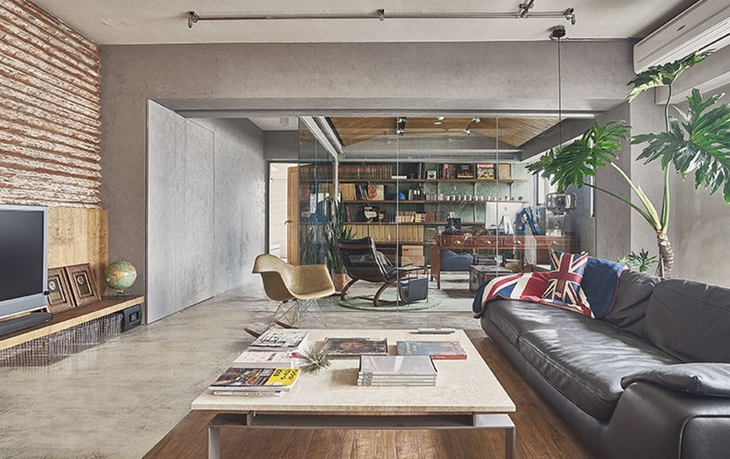 让人喜爱的工业风格装修 水泥也能表现美感客厅效果图