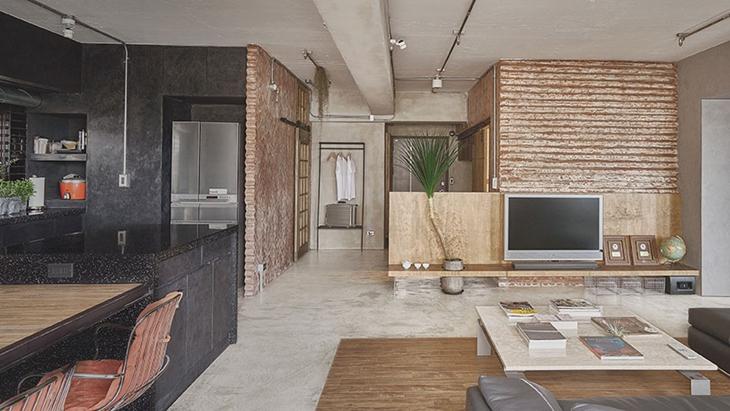 让人喜爱的工业风格装修 水泥也能表现美感工业风客厅