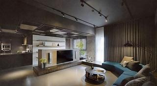 时尚感&萌萌哒 很有艺术感的三居室装修客厅效果图