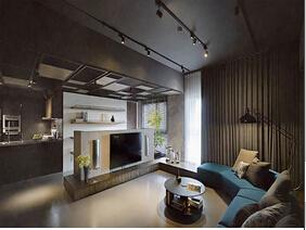 时尚感&萌萌哒 很有艺术感的三居室装修
