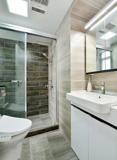93㎡北欧风两居室卫生间图片