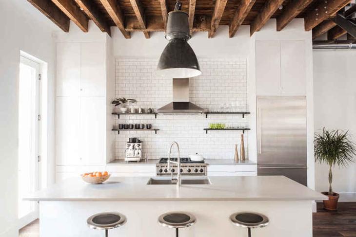 文艺北欧风混搭 开放式厨房设计