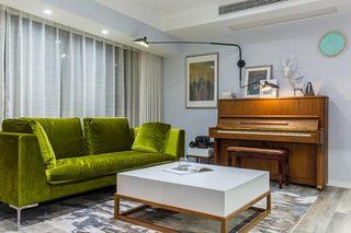 精致北欧风客厅 绒面沙发效果图