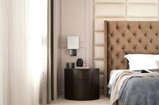 新中式风格卧室床头软包图片