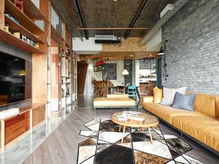 工业风格客厅背景墙装修图片