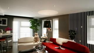 时尚小户型装修  帅哥的质感小公寓设计客厅效果图