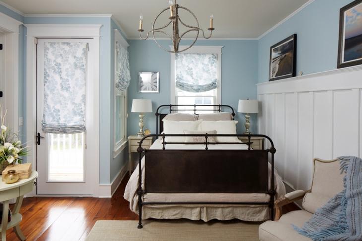 清新简欧田园风格 浅蓝色卧室设计