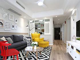 90平北欧风格三室一厅装修 小家更温暖