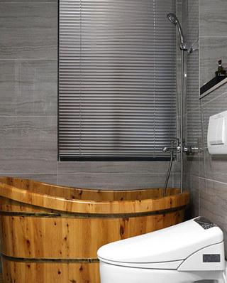 现代简约公寓卫生间装潢图