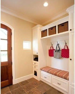 色彩玄关柜设计实景图