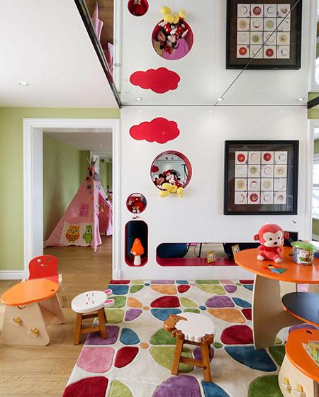 145平美式样板房儿童房效果图