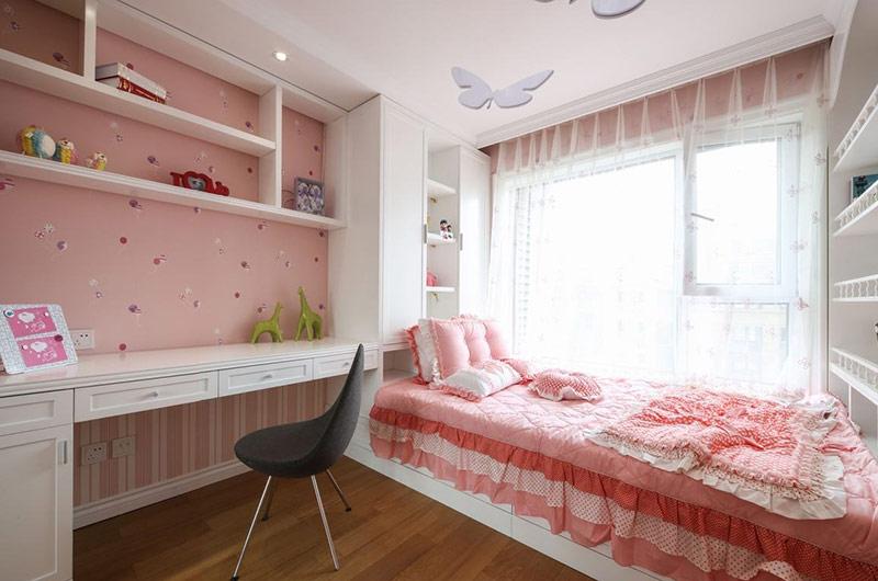 145平美式样板房女孩房设计