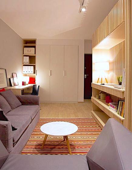 45平日式风格公寓客厅效果图