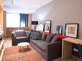 45平日式风格小公寓装修 温润暖光小宅